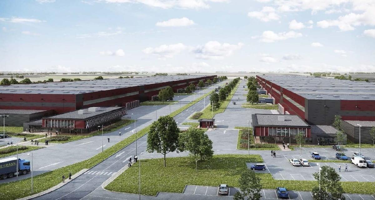 Opération Quartus Logistique dont l'affichage de l'autorisation d'urbanisme a été réalisé par Attestis